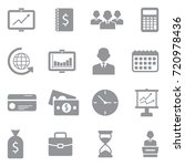 business icons. gray flat... | Shutterstock .eps vector #720978436