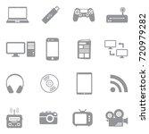 media icons. gray flat design.... | Shutterstock .eps vector #720979282
