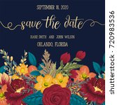 wedding invitation card suite... | Shutterstock .eps vector #720983536