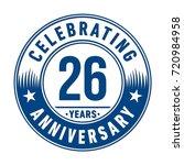 26 years anniversary logo.... | Shutterstock .eps vector #720984958