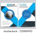 abstract vector modern flyers... | Shutterstock .eps vector #720989992