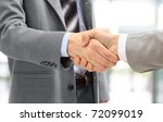 handshake isolated on white...   Shutterstock . vector #72099019
