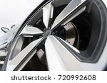close up of rims from a sports...   Shutterstock . vector #720992608