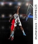 basketball game sport player in ...   Shutterstock . vector #720998125