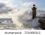 wave crashing in the lighthouse ... | Shutterstock . vector #721000312