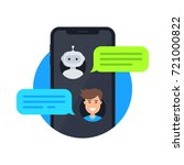 chatbot icon concept. man and... | Shutterstock .eps vector #721000822