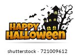 halloween background vector... | Shutterstock .eps vector #721009612