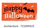 halloween background vector... | Shutterstock .eps vector #721009615