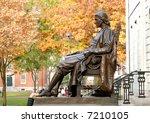 John Harvard Statue. Tourist's...
