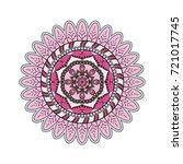 flower mandalas. vintage...   Shutterstock .eps vector #721017745