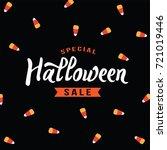 special halloween sale text... | Shutterstock .eps vector #721019446