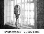 retro microphone.musical... | Shutterstock . vector #721021588