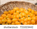 close up fresh yellow cherry... | Shutterstock . vector #721023442
