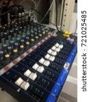 blur sound mixer in control... | Shutterstock . vector #721025485