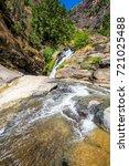 ravana waterfall near ella in... | Shutterstock . vector #721025488