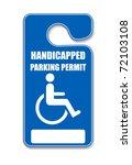 handicap parking tag   vector | Shutterstock .eps vector #72103108