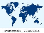 world map. | Shutterstock .eps vector #721039216