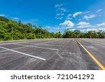 empty space parking lot outdoor ... | Shutterstock . vector #721041292