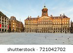royal palace in amsterdam ... | Shutterstock . vector #721042702