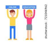 online education vector... | Shutterstock .eps vector #721046962