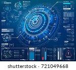 vector circular element for hud ... | Shutterstock .eps vector #721049668