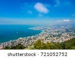 lebanon coast view from harissa | Shutterstock . vector #721052752