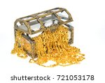 gold jewelry in jewel chest on... | Shutterstock . vector #721053178