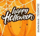 happy halloween  creative... | Shutterstock .eps vector #721054732