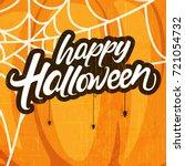happy halloween  creative...   Shutterstock .eps vector #721054732