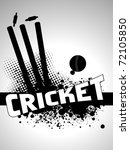 abstract grungy cricket... | Shutterstock .eps vector #72105850