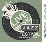 vector banner for jazz festival ... | Shutterstock .eps vector #721064242