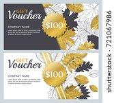 vector gift or discount voucher ... | Shutterstock .eps vector #721067986