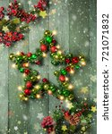 decorative christmas star with... | Shutterstock . vector #721071832