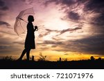 the girls silhouette style... | Shutterstock . vector #721071976