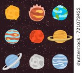 planets of solar system color... | Shutterstock .eps vector #721073422
