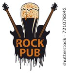 vector banner for the pub with... | Shutterstock .eps vector #721078342