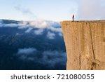 preikestolen   amazing rock in... | Shutterstock . vector #721080055