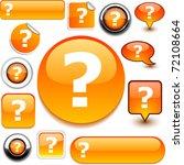 question orange signs. | Shutterstock .eps vector #72108664