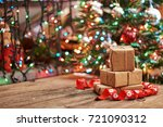 small handmade gift boxes in... | Shutterstock . vector #721090312