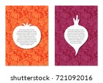 card design templates on... | Shutterstock .eps vector #721092016