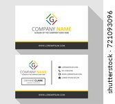 g simple business card with... | Shutterstock .eps vector #721093096