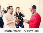 business people celebrating new ... | Shutterstock . vector #721095208