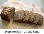 rye bread with cereals | Shutterstock . vector #721095382