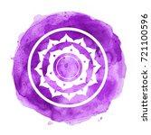 chakra symbol watercolor... | Shutterstock . vector #721100596