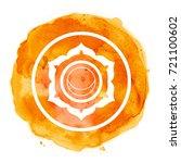 chakra symbol watercolor... | Shutterstock . vector #721100602