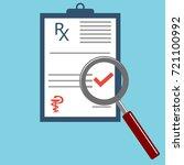 prescription doctor with... | Shutterstock .eps vector #721100992