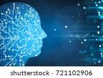 artificial intelligence... | Shutterstock . vector #721102906