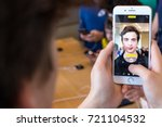 barcelona  spain   23 september ... | Shutterstock . vector #721104532