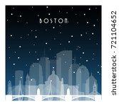 Winter Night In Boston. Night...