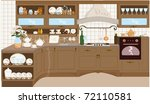 kitchen | Shutterstock .eps vector #72110581
